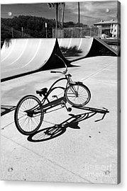 Bike Shadow Acrylic Print by WaLdEmAr BoRrErO
