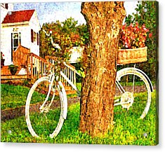 Bike With Flowers Acrylic Print