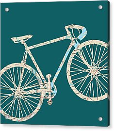 Bike With Philly Map Acrylic Print by Brandi Fitzgerald