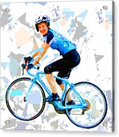 Acrylic Print featuring the painting Biker 1 by Movie Poster Prints