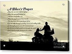 Biker's Prayer Acrylic Print