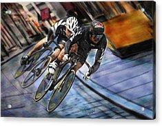 Bikers Acrylic Print by Robert Smith
