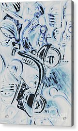 Bikes And Blue Cities Acrylic Print