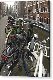 Bikes As Far As The Eye Can See Acrylic Print by Andy Smy