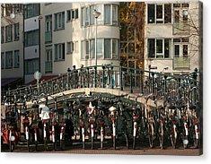 Bikes Bridge And Bird Acrylic Print
