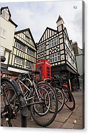 Acrylic Print featuring the photograph Bikes Galore In Cambridge by Gill Billington