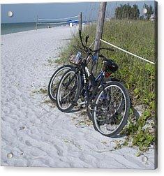Bikes On The Beach Acrylic Print