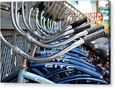 Bikes Acrylic Print by Steven Scott