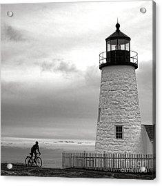 Biking At Pemaquid Acrylic Print