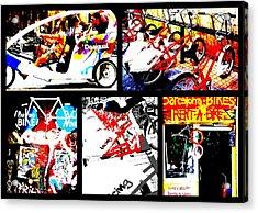 Biking In Barcelona Acrylic Print by Funkpix Photo Hunter