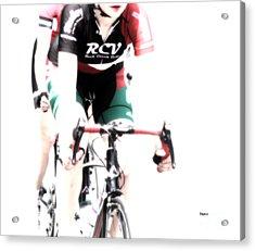 Biking In Her Rcv Acrylic Print by Steven Digman