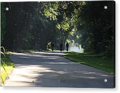 Acrylic Print featuring the photograph Biking by Michael Albright