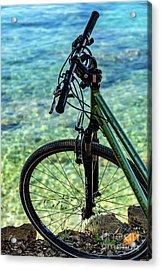 Biking The Rovinj Coastline - Rovinj, Istria, Croatia Acrylic Print