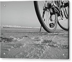 Biking To The Beach Acrylic Print