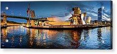 Bilbao Guggenheim Acrylic Print by Marty Garland