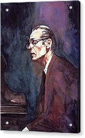 Bill Evans - Blue Symphony Acrylic Print by David Lloyd Glover