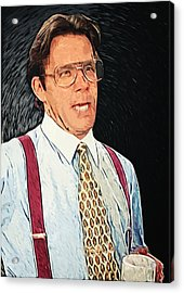 Bill Lumbergh - Office Space Acrylic Print by Taylan Apukovska