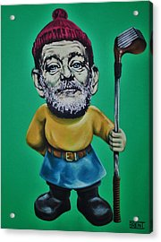 Bill Murray Golf Gnome Acrylic Print