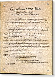 Bill Of Rights Acrylic Print