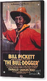 Bill Pickett (1870-1932) Acrylic Print by Granger