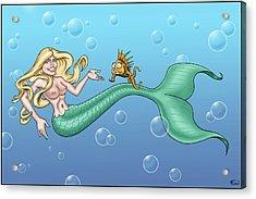 Bill Proctor Mermaid Acrylic Print