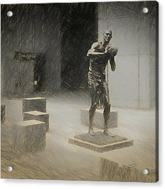 Bill Russell Statue Acrylic Print