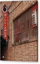 Billard To Bricks Acrylic Print