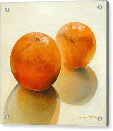 Billes Oranges Acrylic Print by Muriel Dolemieux