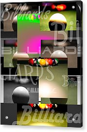Billiards Acrylic Print by Andre  Persun
