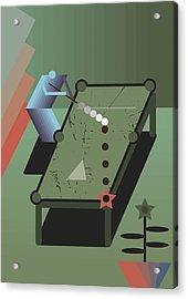 Billiards Acrylic Print by Benjamin Gottwald