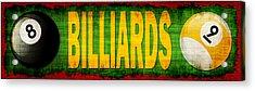 Billiards Acrylic Print by David G Paul