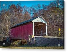 Billie Creek Covered Bridge - 16 Acrylic Print by Jack R Perry