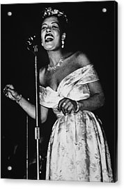 Billie Holiday Acrylic Print by American School