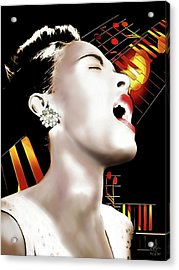 Billie Holiday Acrylic Print by Pennie McCracken