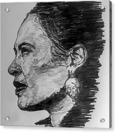 Billie Holiday Acrylic Print by Rachel Natalie Rawlins