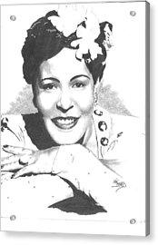 Billie Holiday Acrylic Print by Van Beard