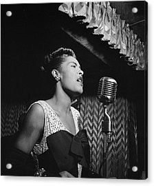 Billie Holiday William Gottlieb Photo New York City 1947 Acrylic Print