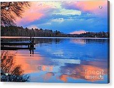 Billington Sea Sunset Acrylic Print by Amazing Jules