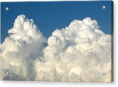 Acrylic Print featuring the photograph Billowing Clouds 1 by Rose Santuci-Sofranko