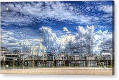 Billowy Clouds Acrylic Print by Judy Rogero
