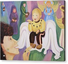 Billy As Baby Jesus Acrylic Print by Suzanne  Marie Leclair