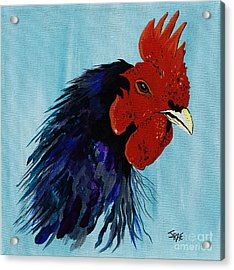 Acrylic Print featuring the painting Billy Boy The Rooster by Janice Rae Pariza