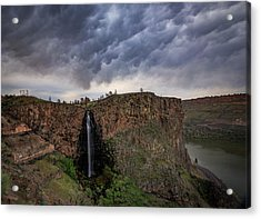 Billy Chinook Falls Acrylic Print by Cat Connor