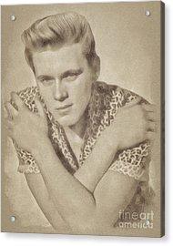Billy Fury, Music Legend By John Springfield Acrylic Print by John Springfield