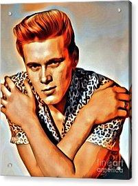 Billy Fury, Music Legend. Digital Art By Mary Bassett Acrylic Print