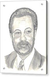 Billy Joel Portrait Acrylic Print by Carol Wisniewski
