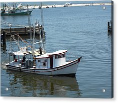 Acrylic Print featuring the photograph Bilouxi Shrimp Boat by Cynthia Powell