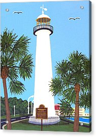 Acrylic Print featuring the painting Biloxi Lighthouse by Frederic Kohli
