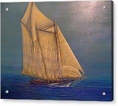 Biloxi Schooner Acrylic Print by Xavier Maumus