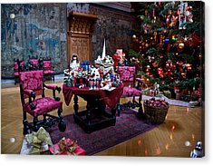 Biltmore Christmas   Acrylic Print by William Jobes